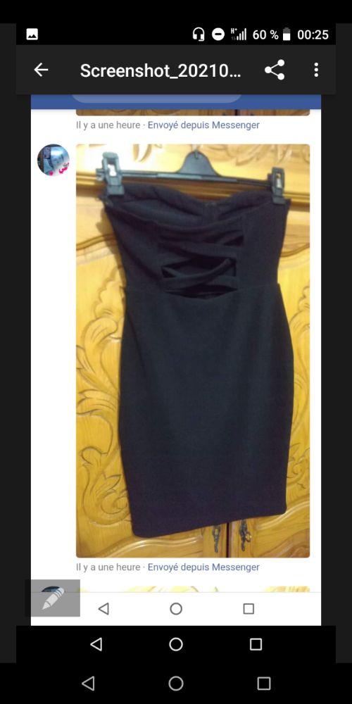 Robe noir trés sexy