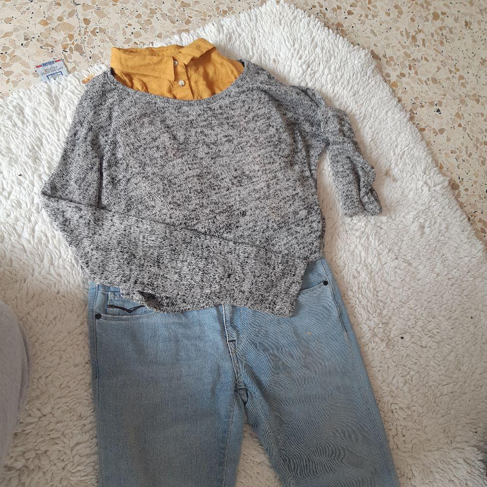 Ensemble de crop top jean et chemise hetm