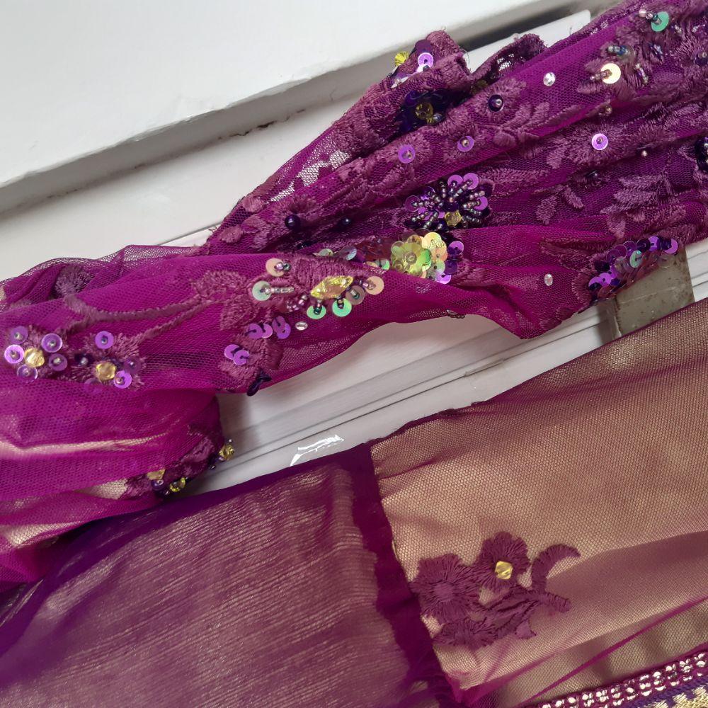 Koftan vert pistache et violet