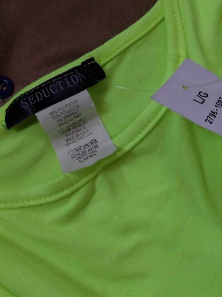 Crop top jaune fluorescent neuf avec étiquette