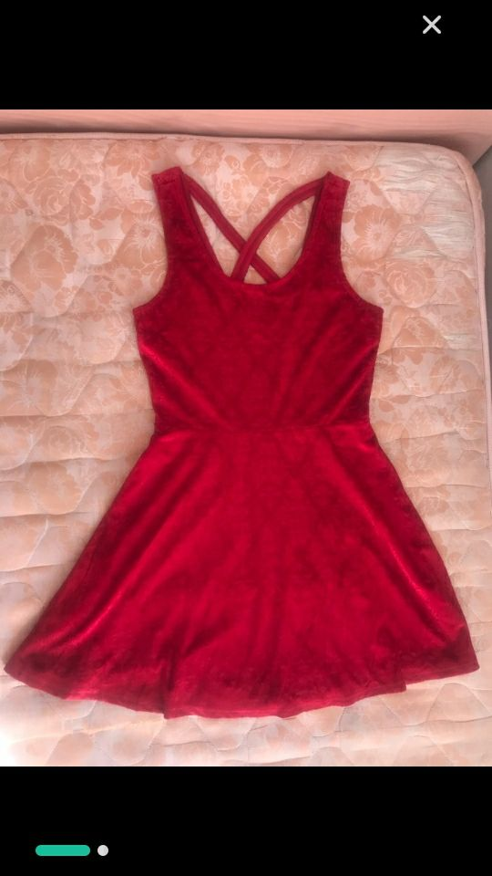 Robe coquette rouge