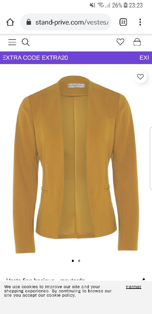 Veste en jaune motarde en très bon état