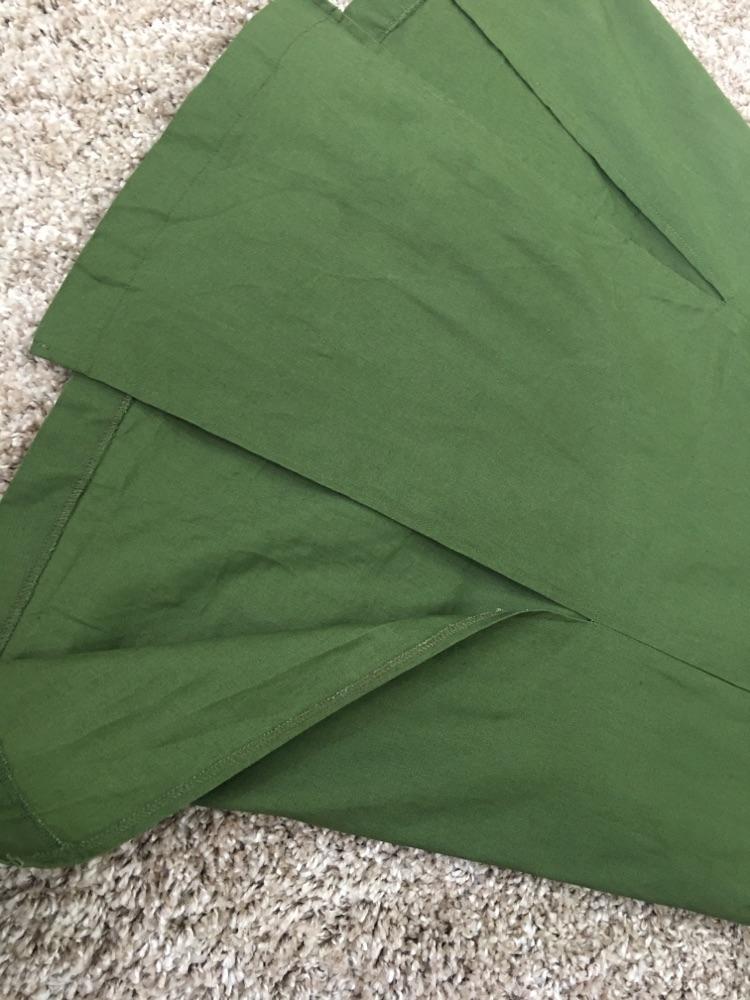 ROBE vert militaire 9amraya avec des poches