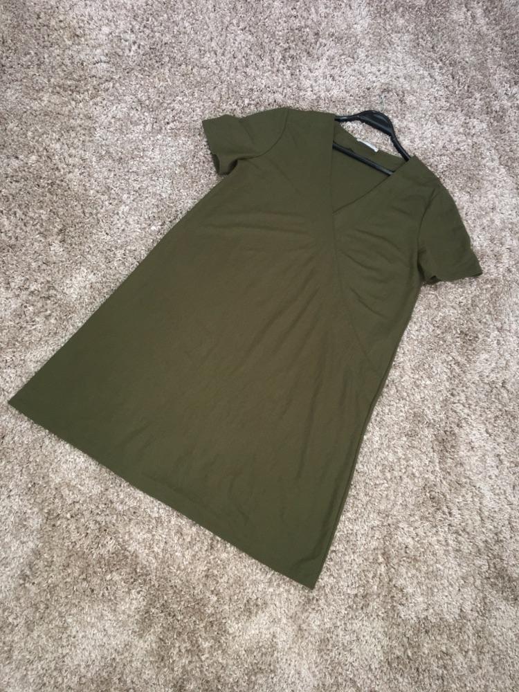 Robe ZARA vert militaire