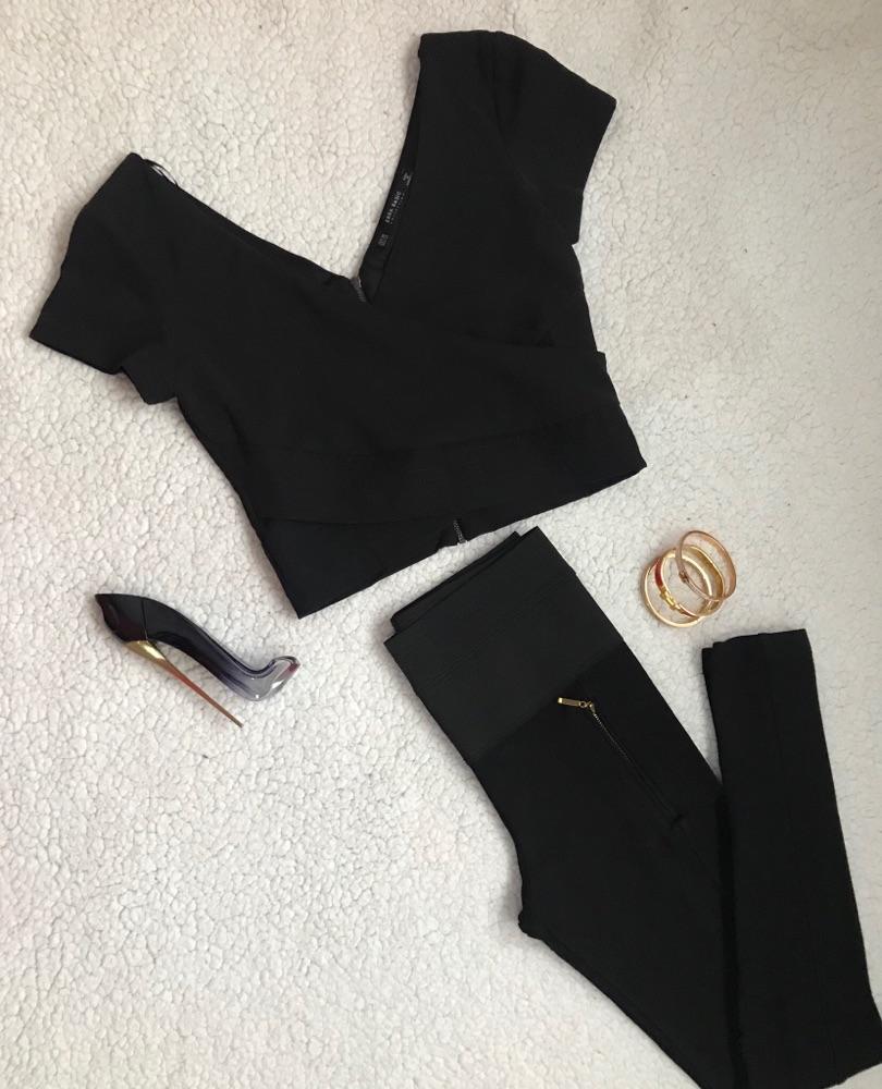 Lot crop top, legging et jupe