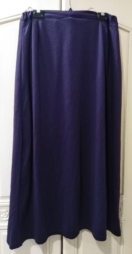 Jupe longue violet