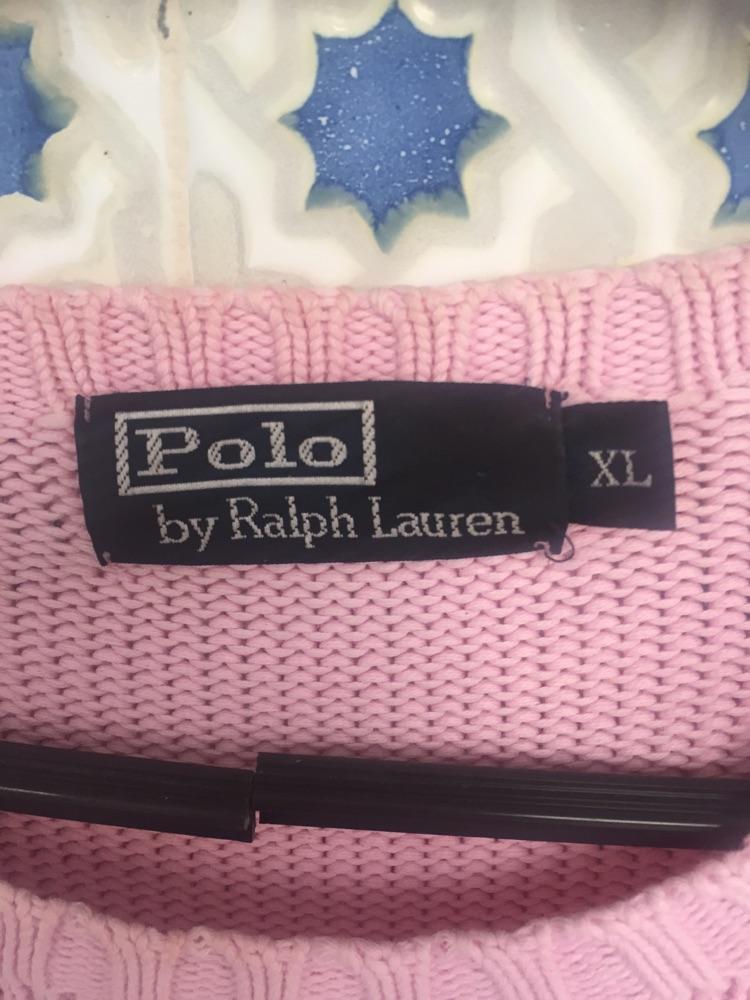 Pull POLO laine rose bebe