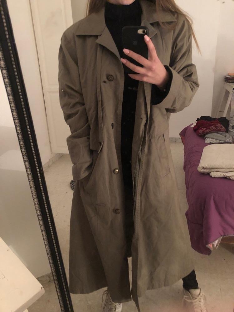 Manteau vert kaki
