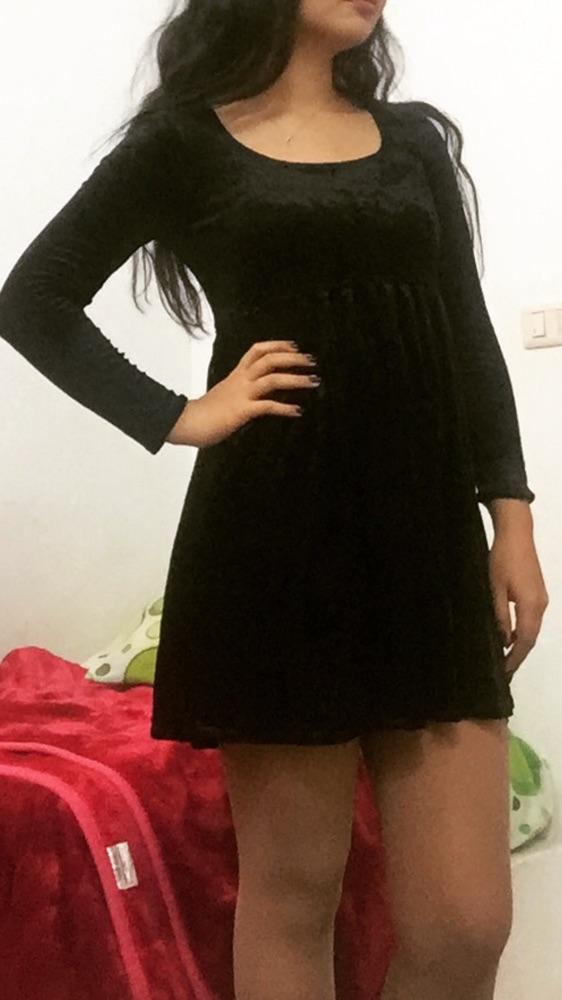 Robe noire en velour