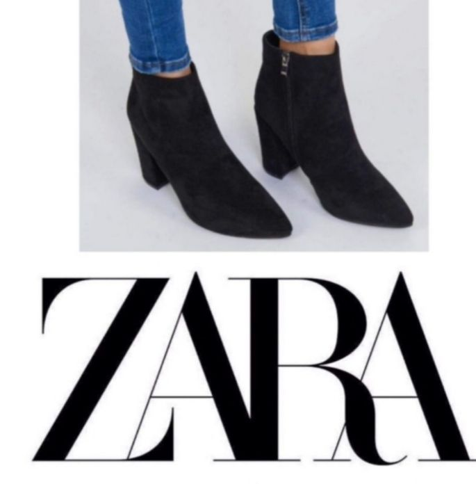 Bottines vrai daim Zara