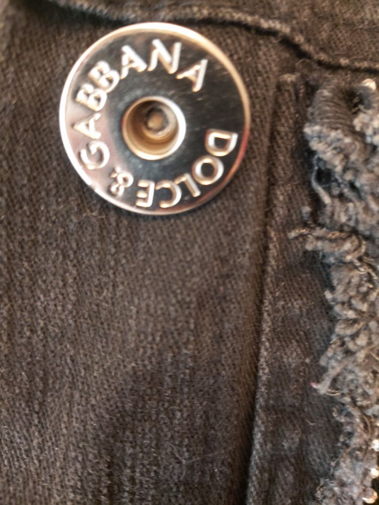 Veste jean noir