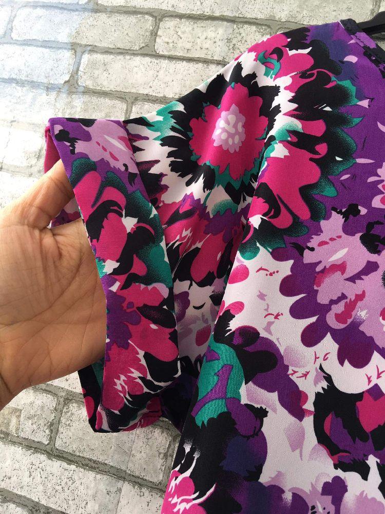 Robe fluide fleurie avec ceinture