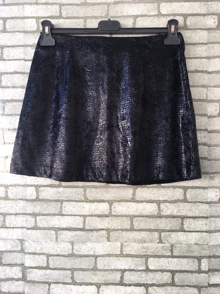 Mini jupe léger croco