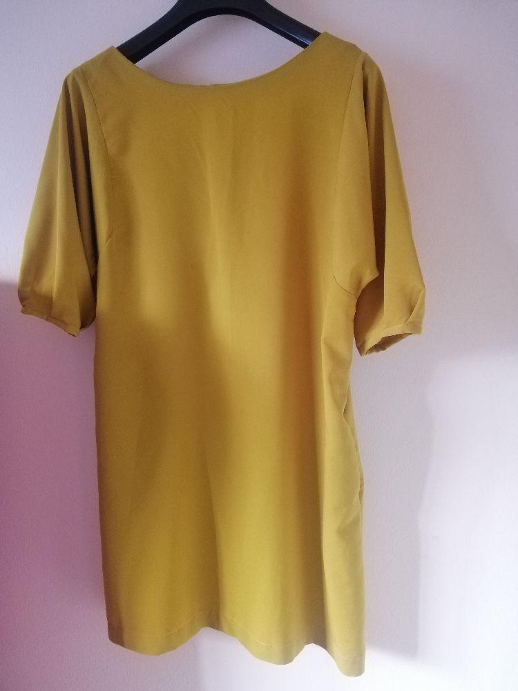 Robe décontracté jaune moutarde