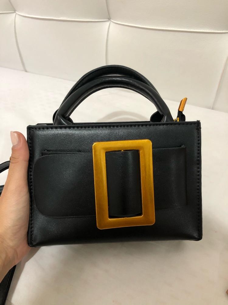Petit sac en cuir avec boucle en doré