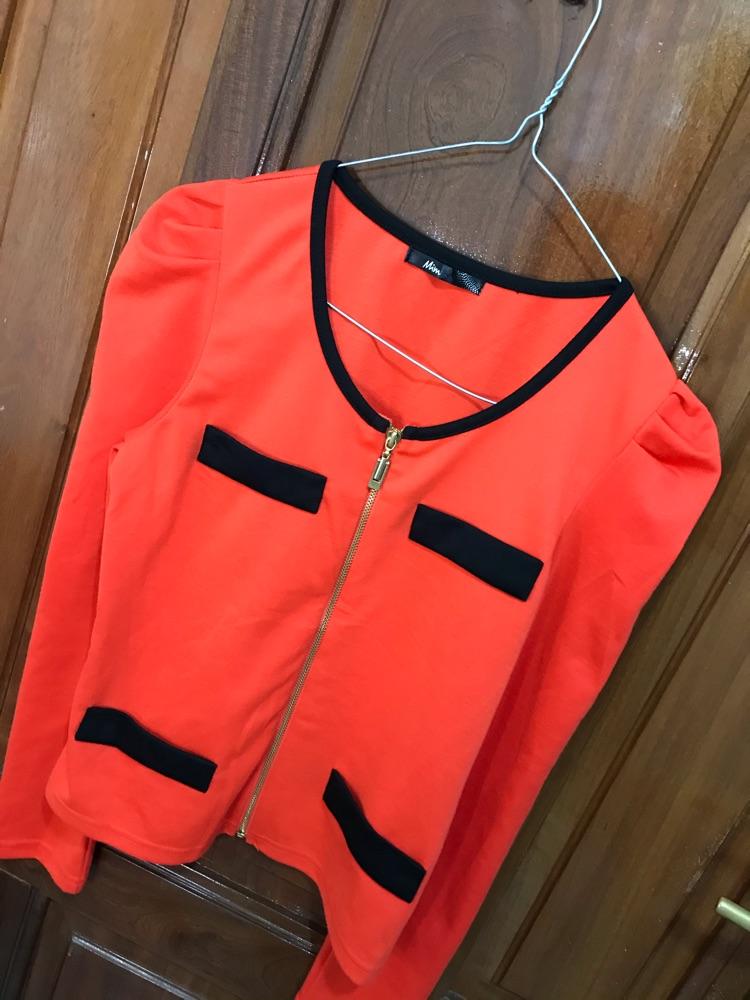Pull style gilet orange