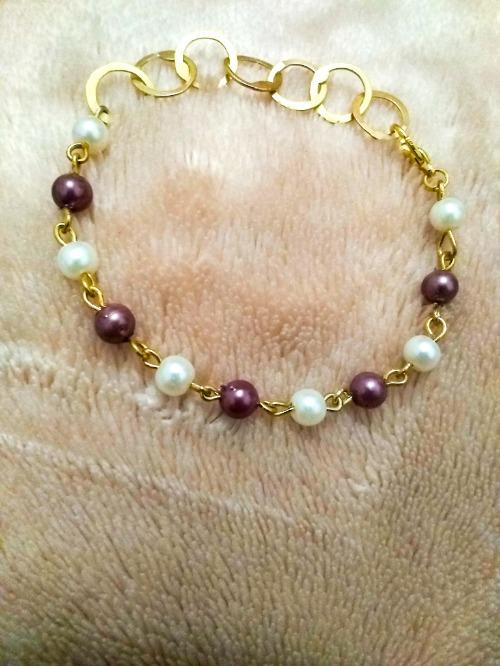 Deux bracelets (rihana, perles multicolores, doré&argent )