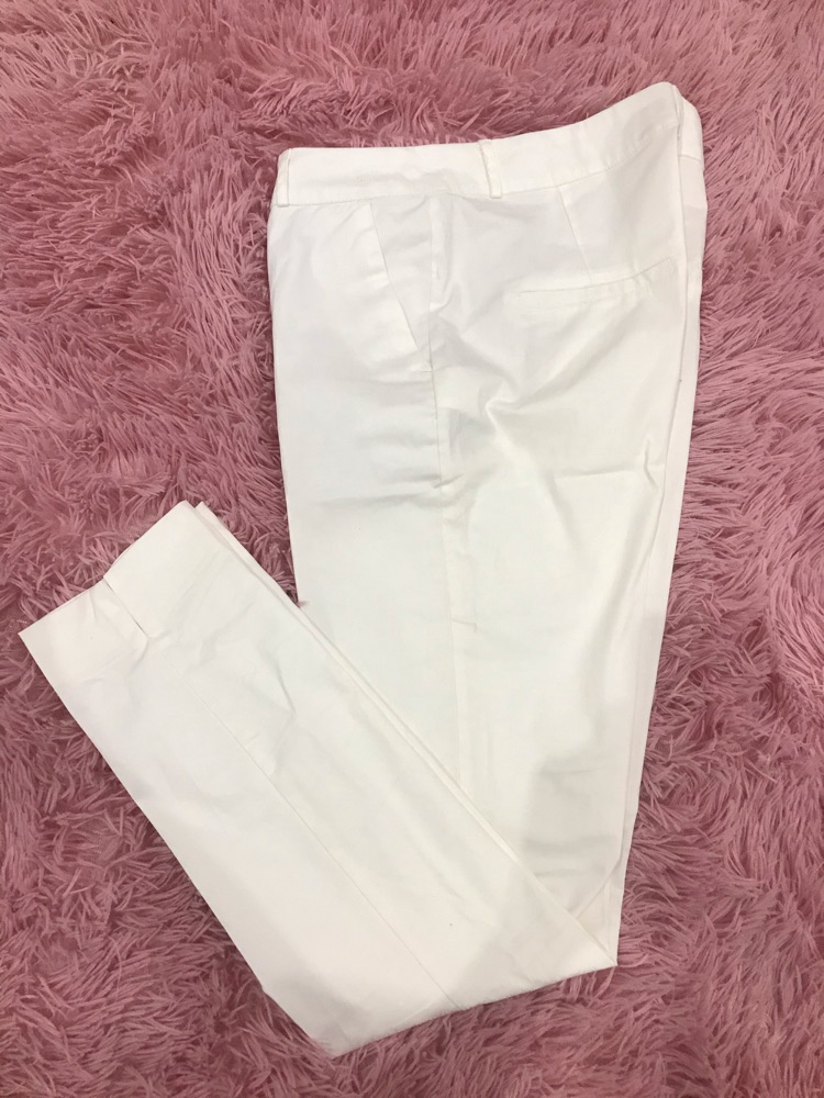 Pantalon blanc classe taille haute