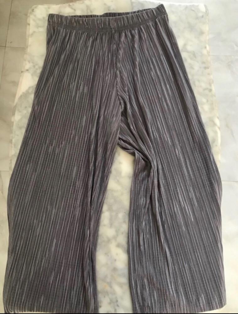 Pantalon plissé gris