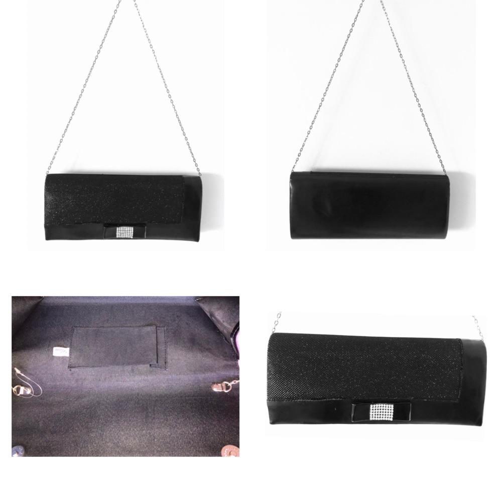 Talon et sac à bandoulière noir