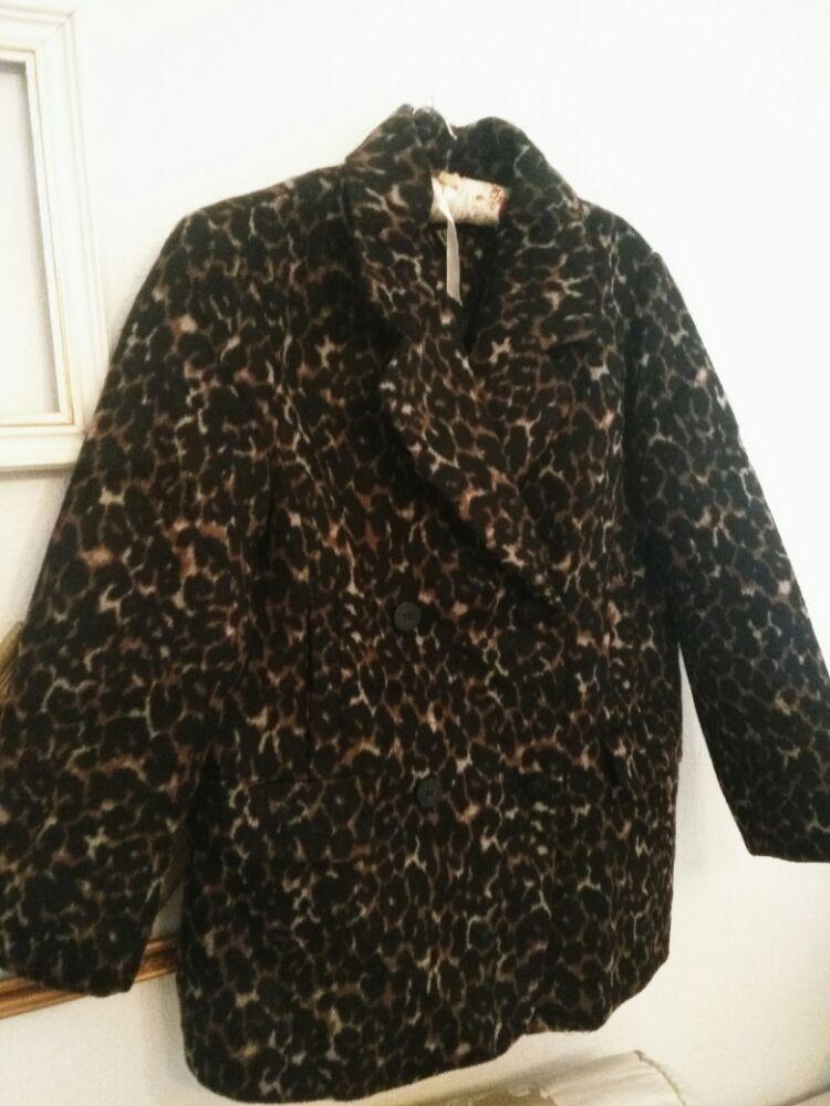 Veste-manteau léopard H&M à boutonnage croisé