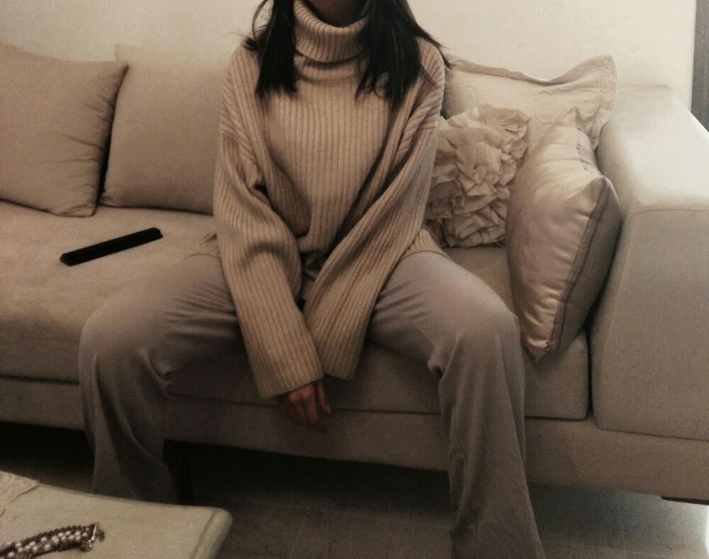 Gros pull H&M oversized col roulé