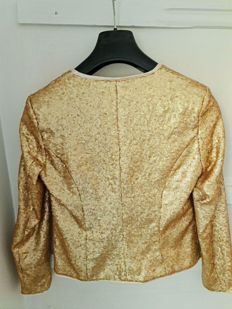 Veste en sequin doré