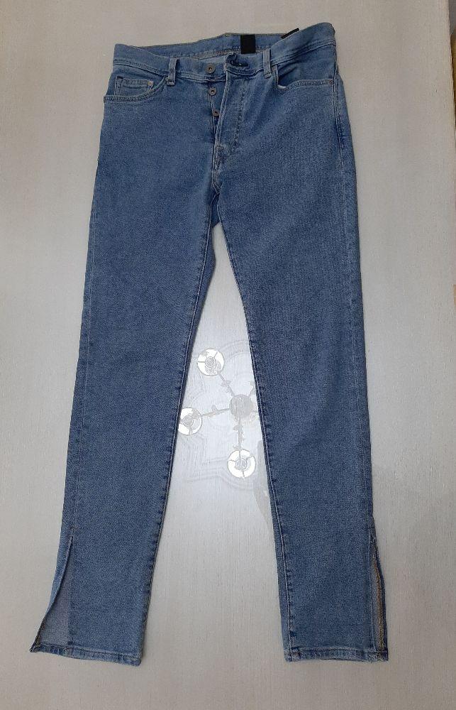 Pantalon taille haute avec fente