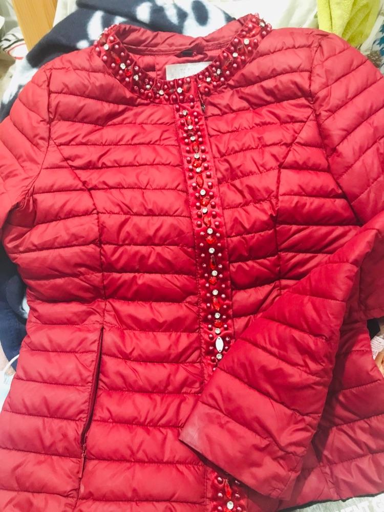 Veste rouge bordeau