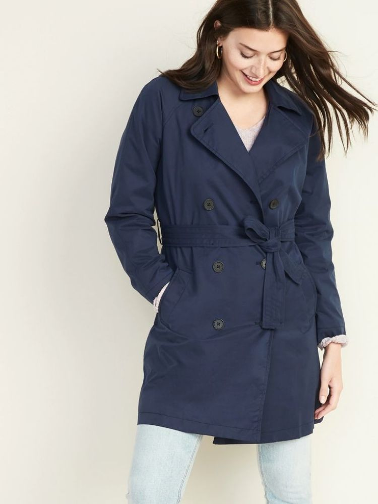 Trench blue coat