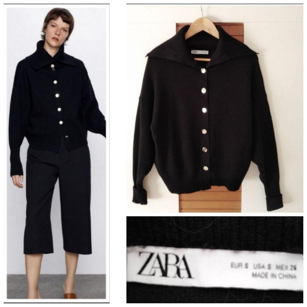 Cardigan Zara epais à boutonnage doré neuf