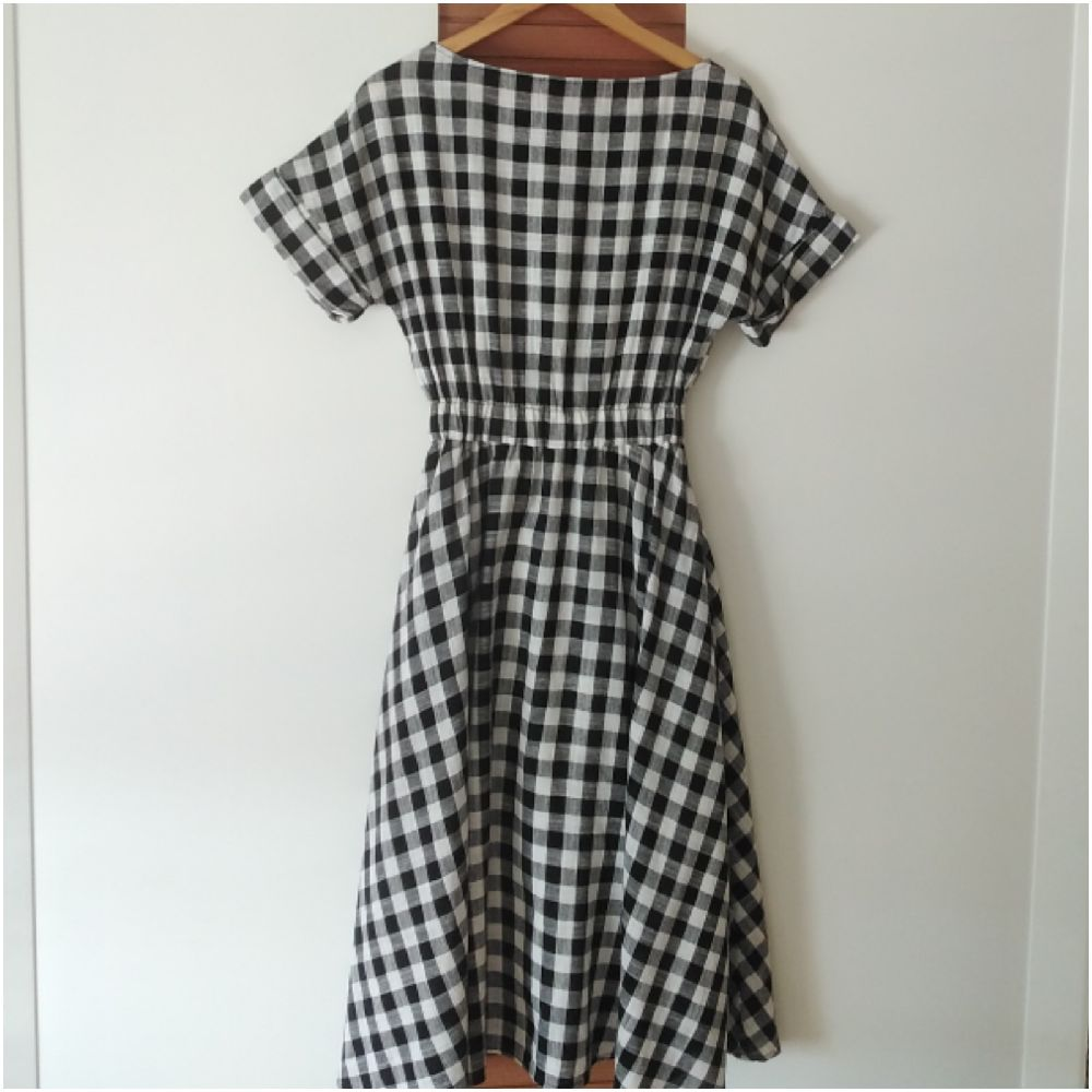 Magnifique robe vichy à carreaux tendance