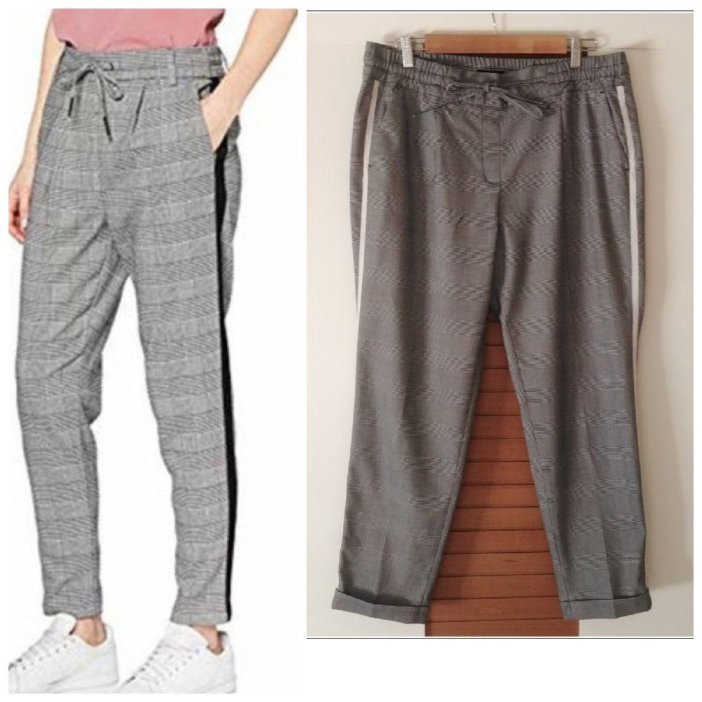 Pantalon à carreaux sport chic neuf