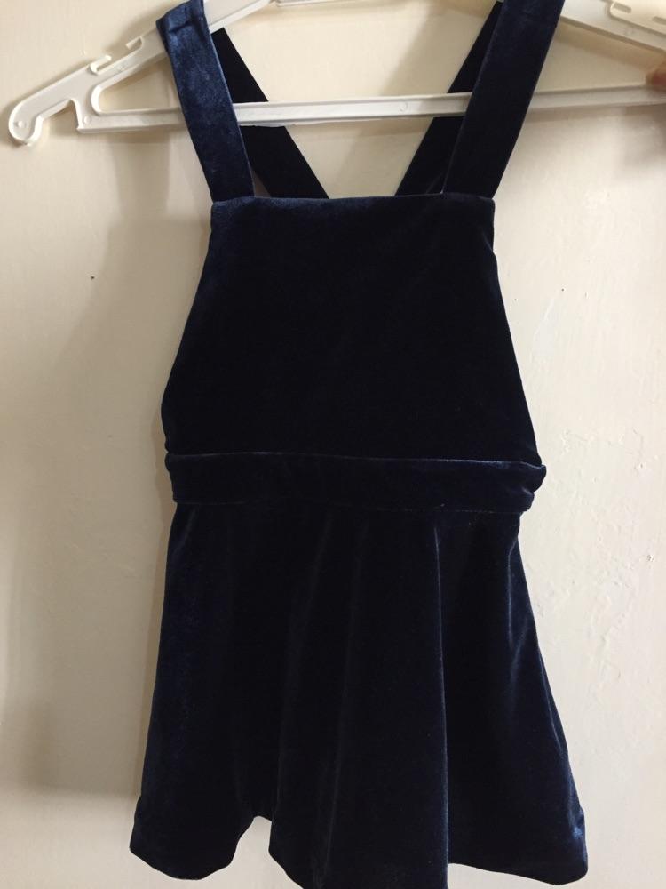 Robe velour bleu neuf et chemise
