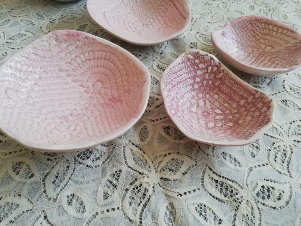 Bols à fruits secs, pièces uniques en céramique