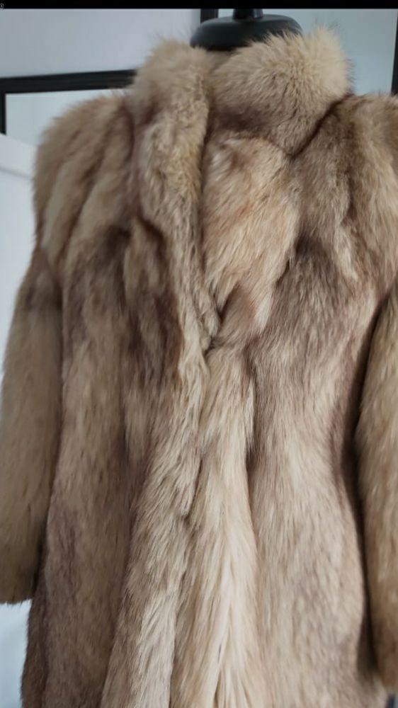 Manteau renard vrai