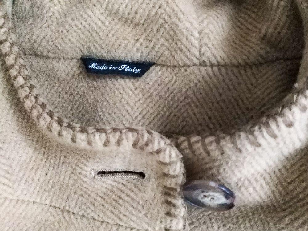 Manteau beige clair cachemire