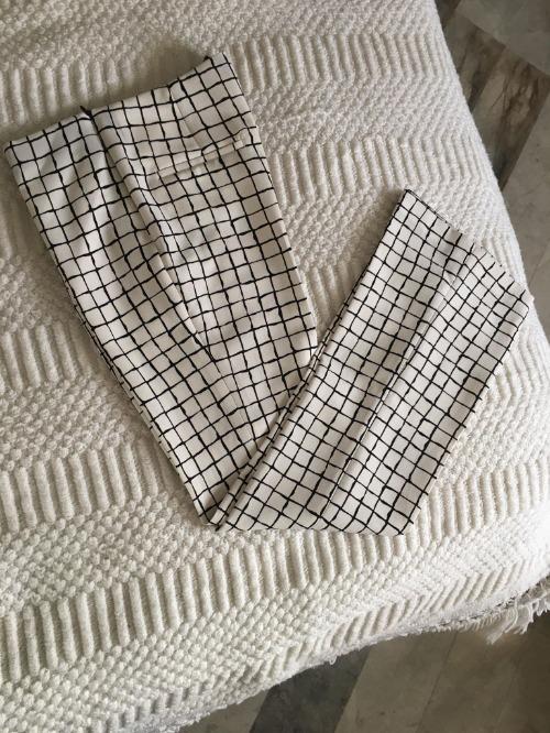 Pantalon à carreaux Zara