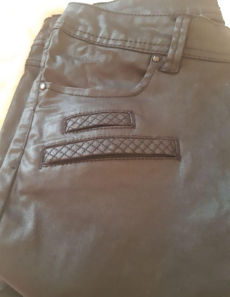 Pantalon effet cuir Pomodo