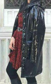 Manteau noir fourré