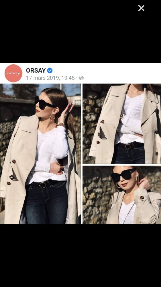 Trench coat orsay