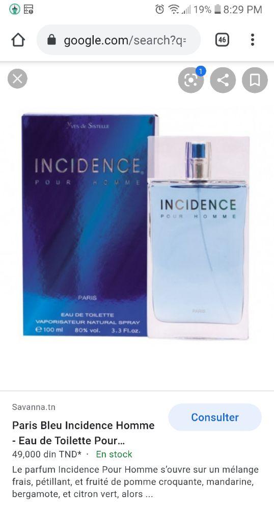 Parfum incidence homme