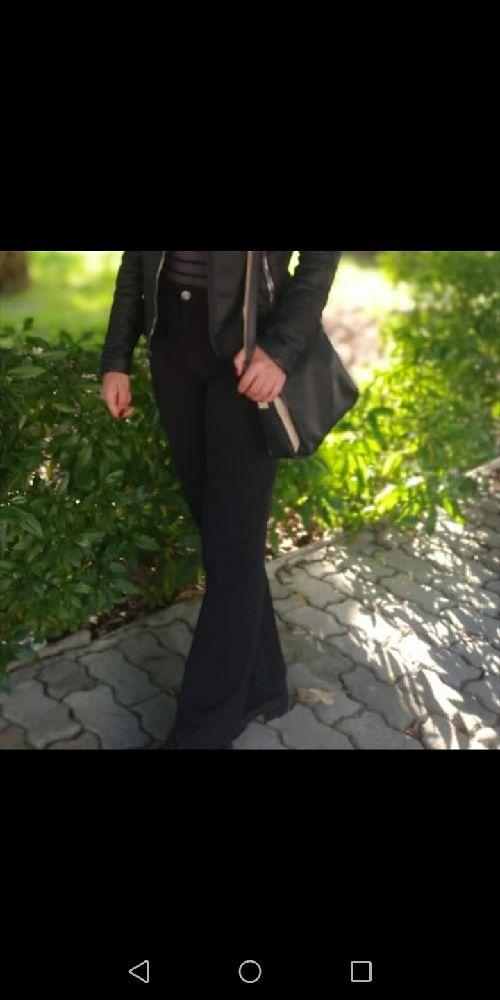 Pantalon taille haute mac noir