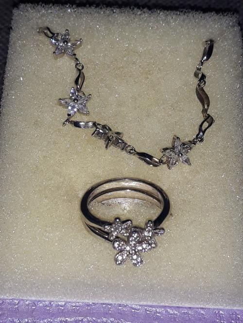 Bague & bracelet argent 925