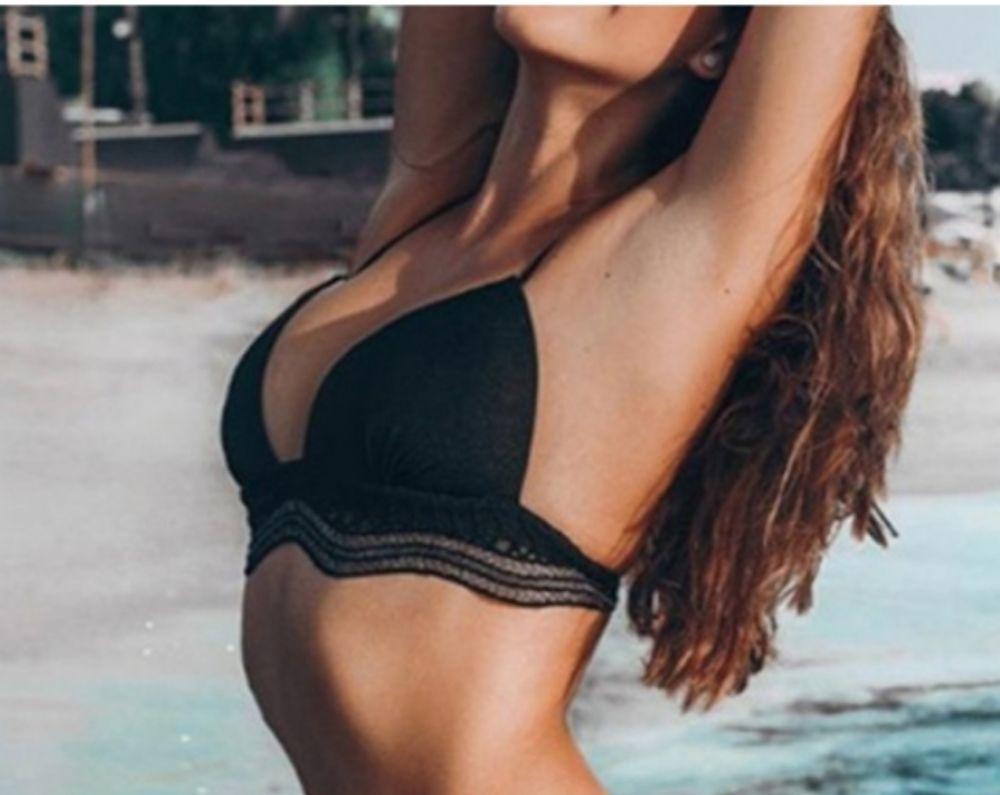 Haut de bikini avec dentelle