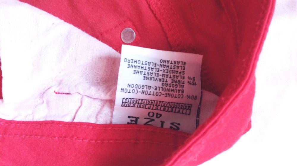 Pantalon élastique rouge