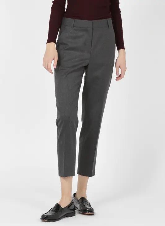 Pantalon gris taille haute