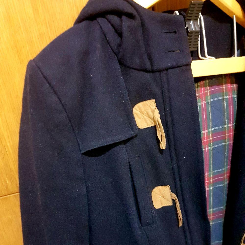 Manteau à capuche bleu foncé tendance