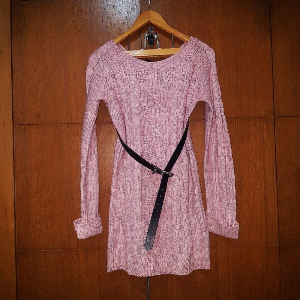 Robe pull rose tendance