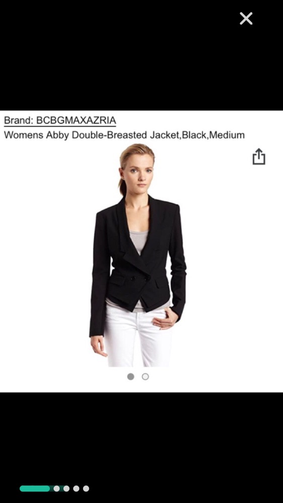 Cropped black blazer